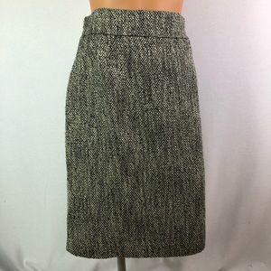 Brooks Brothers tweed acrylic metallic skirt Sz 12